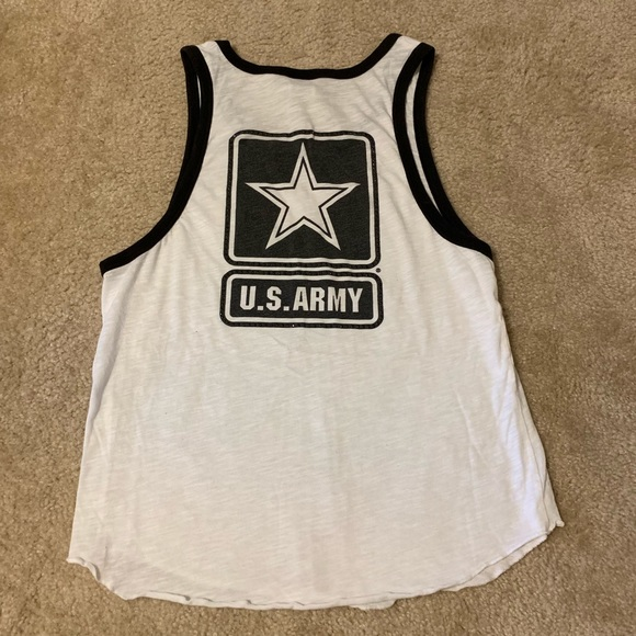 SALE- VS PINK US Army sparkle muscle tank